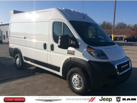Bright White Ram ProMaster 1500 High Roof Cargo Van.  Click to enlarge.