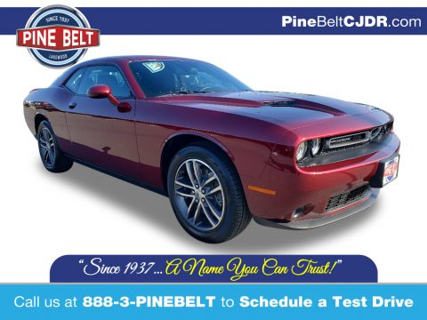 Octane Red Pearl Dodge Challenger SXT AWD.  Click to enlarge.