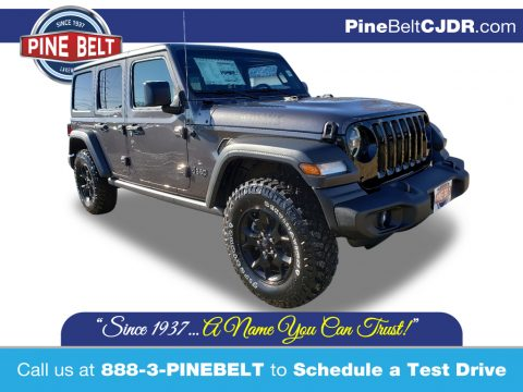 Granite Crystal Metallic Jeep Wrangler Unlimited Willys 4x4.  Click to enlarge.