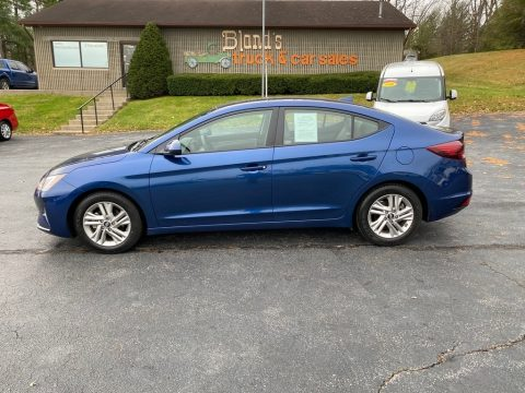 Lakeside Blue Hyundai Elantra SEL.  Click to enlarge.