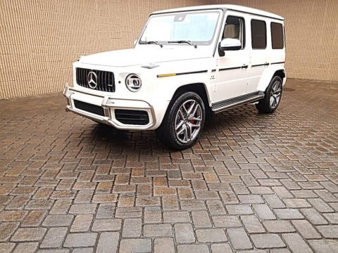 designo Diamond White Metallic Mercedes-Benz G 63 AMG.  Click to enlarge.