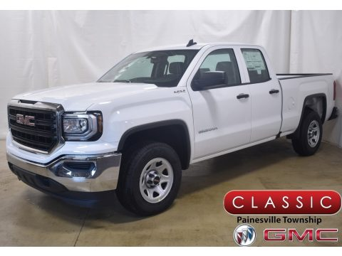 Summit White GMC Sierra 1500 Limited Double Cab 4WD.  Click to enlarge.