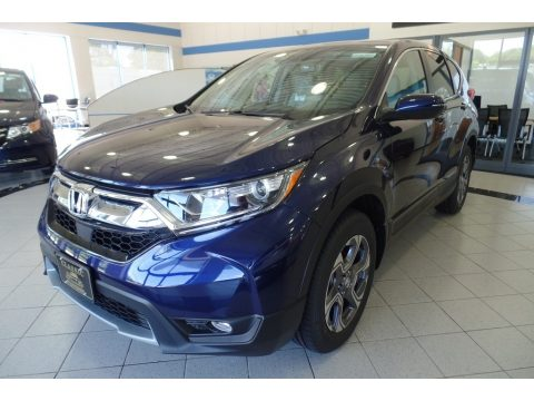 Obsidian Blue Pearl Honda CR-V EX-L AWD.  Click to enlarge.