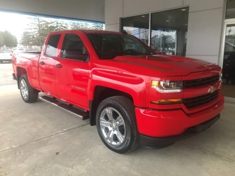 Red Hot Chevrolet Silverado LD Custom Double Cab 4x4.  Click to enlarge.