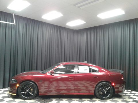 Octane Red Pearl Dodge Charger Scat Pack Stars & Stripes Edition.  Click to enlarge.