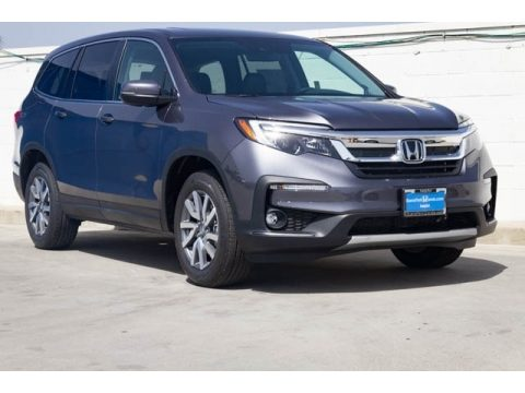 Modern Steel Metallic Honda Pilot EX-L.  Click to enlarge.