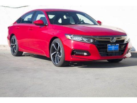Radiant Red Metallic Honda Accord Sport Sedan.  Click to enlarge.