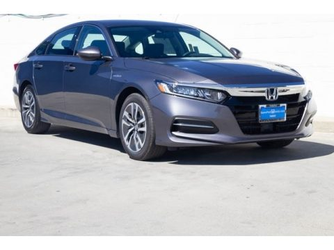Modern Steel Metallic Honda Accord Hybrid Sedan.  Click to enlarge.