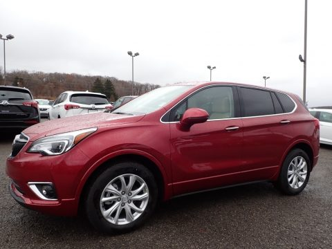 Chili Red Metallic Buick Envision Preferred AWD.  Click to enlarge.