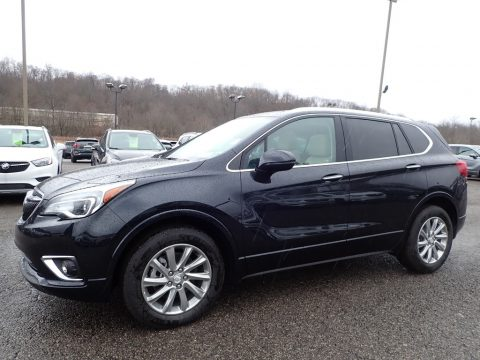 Dark Moon Blue Metallic Buick Envision Essence AWD.  Click to enlarge.