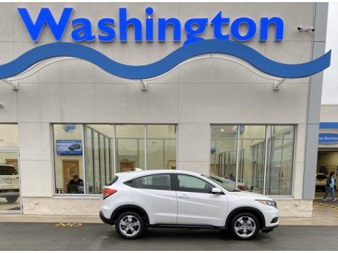 Platinum White Pearl Honda HR-V LX AWD.  Click to enlarge.