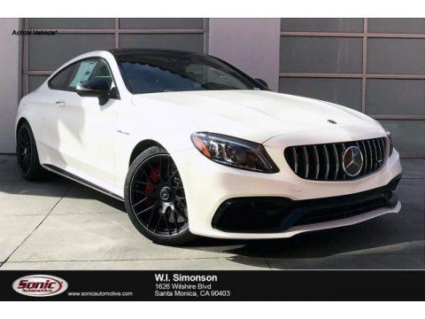 designo Diamond White Metallic Mercedes-Benz C AMG 63 S Coupe.  Click to enlarge.