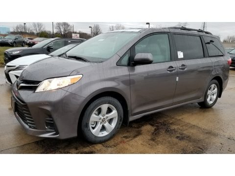 Predawn Gray Mica Toyota Sienna LE.  Click to enlarge.