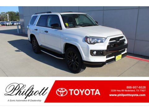 Blizzard White Pearl Toyota 4Runner Nightshade Edition 4x4.  Click to enlarge.