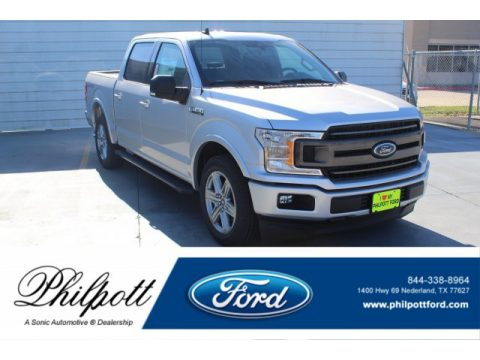 Ingot Silver Ford F150 XLT SuperCrew.  Click to enlarge.