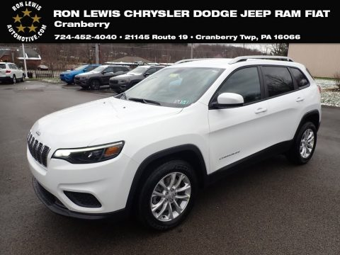 Bright White Jeep Cherokee Latitude.  Click to enlarge.