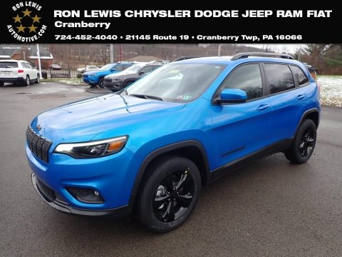 Hydro Blue Pearl Jeep Cherokee Latitude Plus 4x4.  Click to enlarge.