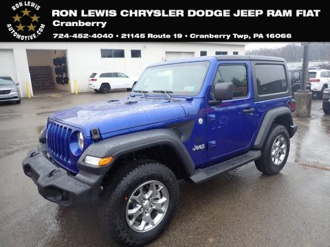 Ocean Blue Metallic Jeep Wrangler Sport 4x4.  Click to enlarge.