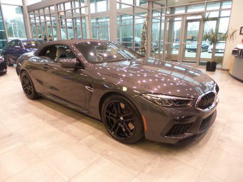 Brands Hatch Grey Metallic BMW M8 Convertible.  Click to enlarge.