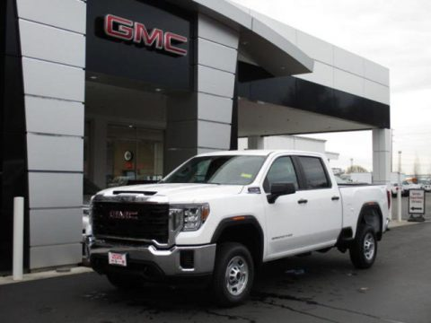 Summit White GMC Sierra 2500HD Crew Cab 4WD.  Click to enlarge.