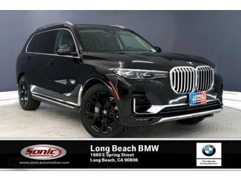 Black Sapphire Metallic BMW X7 xDrive40i.  Click to enlarge.