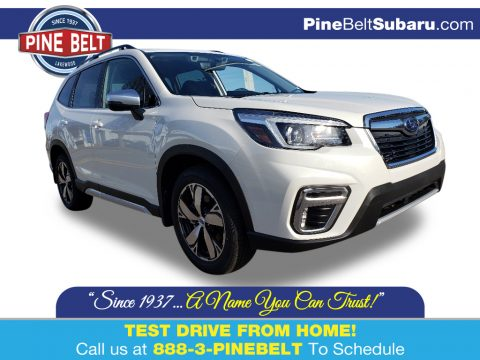 Crystal White Pearl Subaru Forester 2.5i Touring.  Click to enlarge.