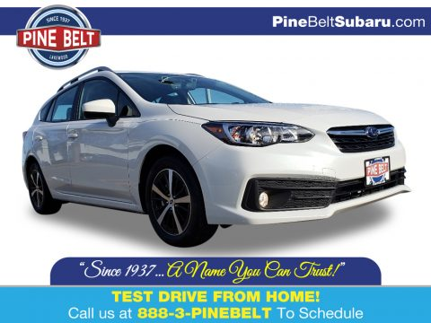 Crystal White Pearl Subaru Impreza Premium 5-Door.  Click to enlarge.