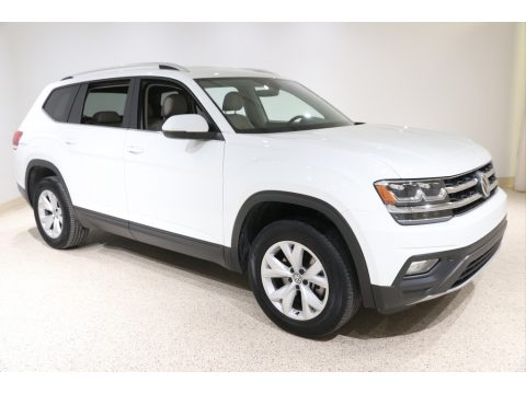 Pure White Volkswagen Atlas SE 4Motion.  Click to enlarge.