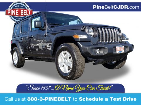 Granite Crystal Metallic Jeep Wrangler Unlimited Sport 4x4.  Click to enlarge.