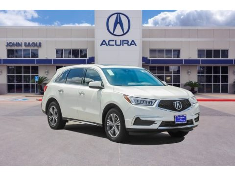 Platinum White Pearl Acura MDX Technology AWD.  Click to enlarge.