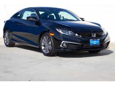 Crystal Black Pearl Honda Civic EX Coupe.  Click to enlarge.
