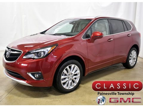 Chili Red Metallic Buick Envision Premium AWD.  Click to enlarge.