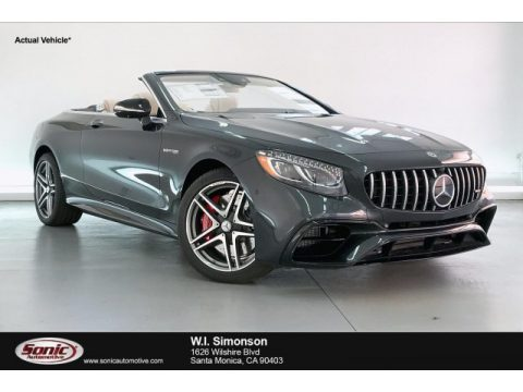Magnetite Black Metallic Mercedes-Benz S 63 AMG 4Matic Convertible.  Click to enlarge.