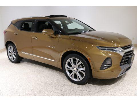 Sunlit Bronze Metallic Chevrolet Blazer Premier AWD.  Click to enlarge.
