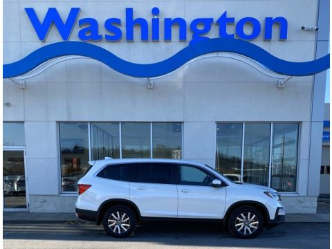Platinum White Pearl Honda Pilot EX AWD.  Click to enlarge.