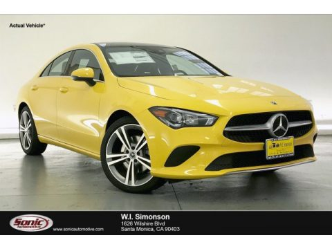 Sun Yellow Mercedes-Benz CLA 250 Coupe.  Click to enlarge.