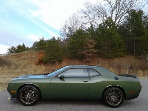 F8 Green Dodge Challenger R/T Scat Pack.  Click to enlarge.