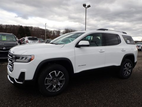 Summit White GMC Acadia SLE AWD.  Click to enlarge.
