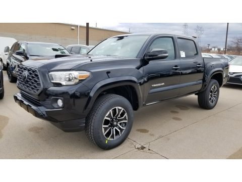 Midnight Black Metallic Toyota Tacoma TRD Sport Double Cab 4x4.  Click to enlarge.