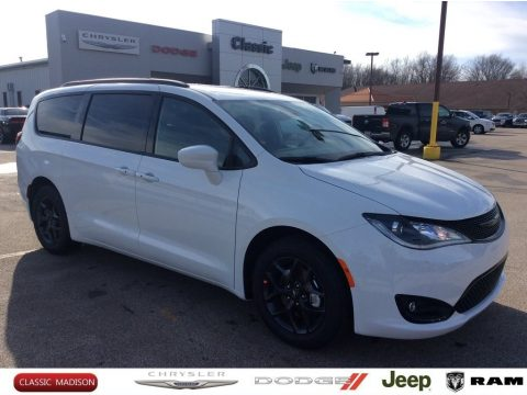 Bright White Chrysler Pacifica Touring L Plus.  Click to enlarge.