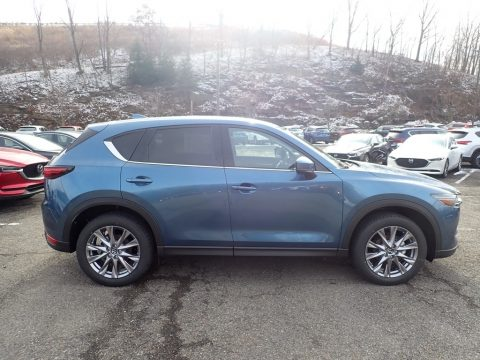 Eternal Blue Mica Mazda CX-5 Grand Touring AWD.  Click to enlarge.