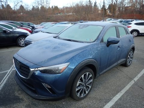 Eternal Blue Mica Mazda CX-3 Touring AWD.  Click to enlarge.