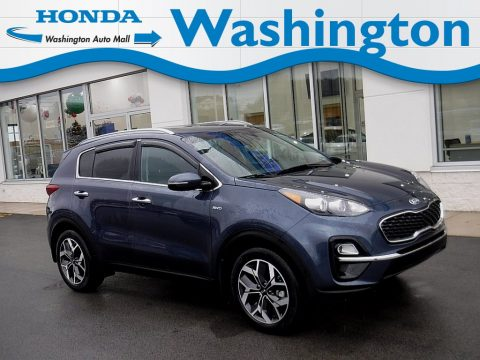 Pacific Blue Kia Sportage EX AWD.  Click to enlarge.