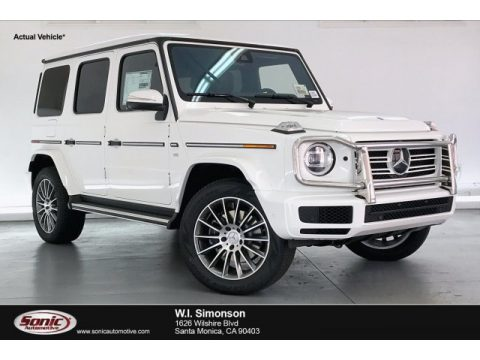 Polar White Mercedes-Benz G 550.  Click to enlarge.