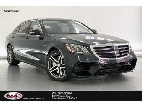 Anthracite Blue Metallic Mercedes-Benz S 63 AMG 4Matic Sedan.  Click to enlarge.