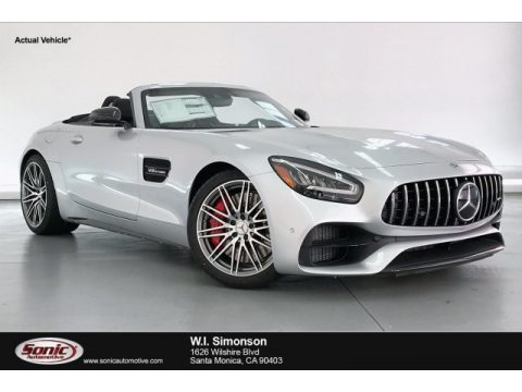 Iridium Silver Metallic Mercedes-Benz AMG GT C Roadster.  Click to enlarge.