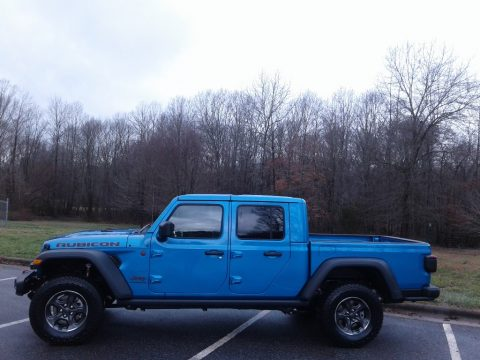 Hydro Blue Pearl Jeep Gladiator Rubicon 4x4.  Click to enlarge.