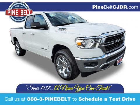 Bright White Ram 1500 Big Horn Quad Cab 4x4.  Click to enlarge.