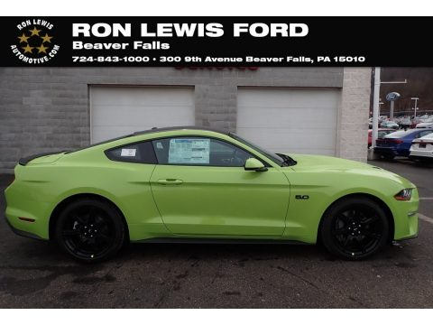 Grabber Lime Ford Mustang GT Premium Fastback.  Click to enlarge.