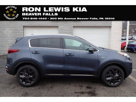 Pacific Blue Kia Sportage S AWD.  Click to enlarge.